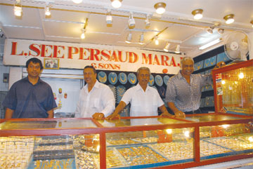 L Seepersaud Maraj Sons grappling with gold prices rising cost of