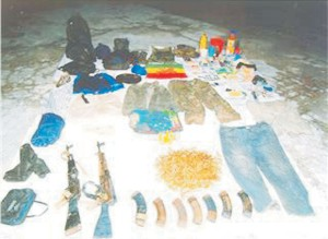Some of the items found (police photo)