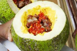 Stuffed breadfruit (Photo by Cynthia Nelson)
