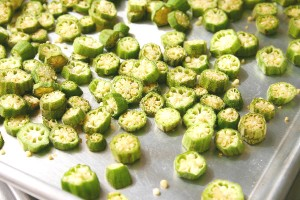 Sun-dried okra (Photo by Cynthia Nelson)