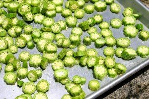 Okra drying in  sun (Photo by Cynthia Nelson)
