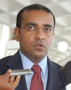 Lone skeptic... President Bharrat Jagdeo in Barbados recently