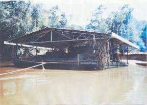 A gold dredge in operation. Gold continues to be vital to trade relations between Guyana and Canada.