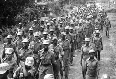 National Service pioneers on the march