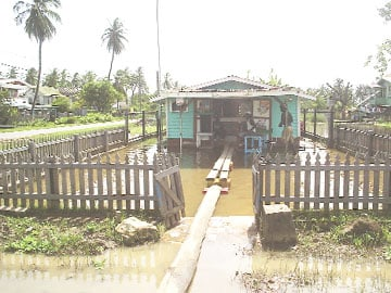 This shop at Dochfour has been flooded since the heavy rainfall began in early December of last year.