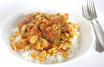 Stewed Pork with Lima Beans (Photo by Cynthia Nelson)
