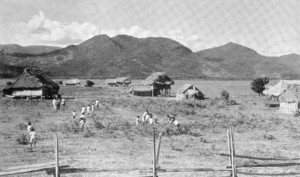 Sand Creek, an Amerindian Village in the Rupununi in the late 1950s.