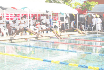 PLUNGING OFF! The Guyana Amateur Swimming Association's programme of activities will plunge off this weekend.