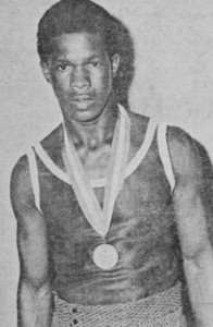 Reggie Ford with one of the many medals he won during his career.