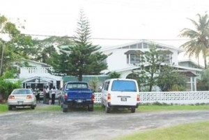George Codogan's D'Urban Backlands house in which he was discovered dead yesterday afternoon.