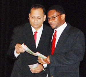 Ajay Baksh and Clement Stanford in a scene from Link Show 25