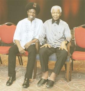 Eddy Grant and Nelson Mandela