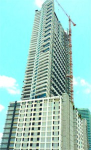 A 56-storey condominium project called Infinity at Brickell which has 459 residences and is located on Brickell Street, one of the most expensive streets in Miami. (PHOTO: Wikimedia Commons)