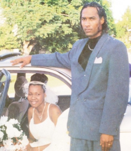 Latoya and her husband Anthony Woolford on their wedding day.