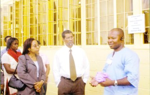 The GBTI wing being commissioned on February 17th. At centre is John Tracey – Director, Credit of the Bank.