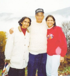 Bhanmattie and Cyril and their daughter Nadira