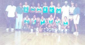 The victorious 1996 Guyana female Caricom basketball team.