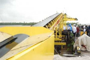 The adjustable conveyor belt which was constructed by the company.