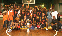 We are the Champions! Dyna's Ravens players celebrating after winning the 2009 NLE basketball tournament. (Orlando Charles photo)