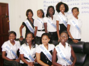 Contestants in the Miss Bartica Regatta pageant