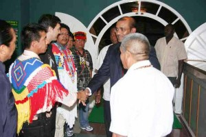 President Bharrat Jagdeo meets indigenous leaders of the Guiana Shield