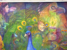 Part of the mural
