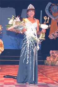 Jenel Cox after being crowned Miss Guyana Universe on Saturday night. (See story on page 19.)  (Xclusive Photo Studio)