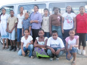 Top students of Novar Primary pose with their teacher Shamee Charran (standing, centre). From left standing are: Aanisah Bacchus, Simeon Chester, Calissa Bradford, Devon Pierre, Shaniece Wilson, Shameeza Bacchus, Ricardo Phillips and Bisham Bisnauth. Stooping from left are: Karishma Sankar, Zeska Williams, Jagdesh Singh and Crystal Madray.