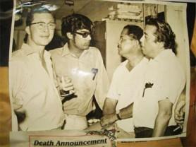 Former cinema magnates – Andrew James, H Teelucksingh, Ken Veerasammy and Pius Gomes