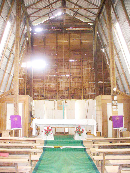 Kamarang Church - interior to altar