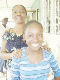Ashika John and mother Nichola John