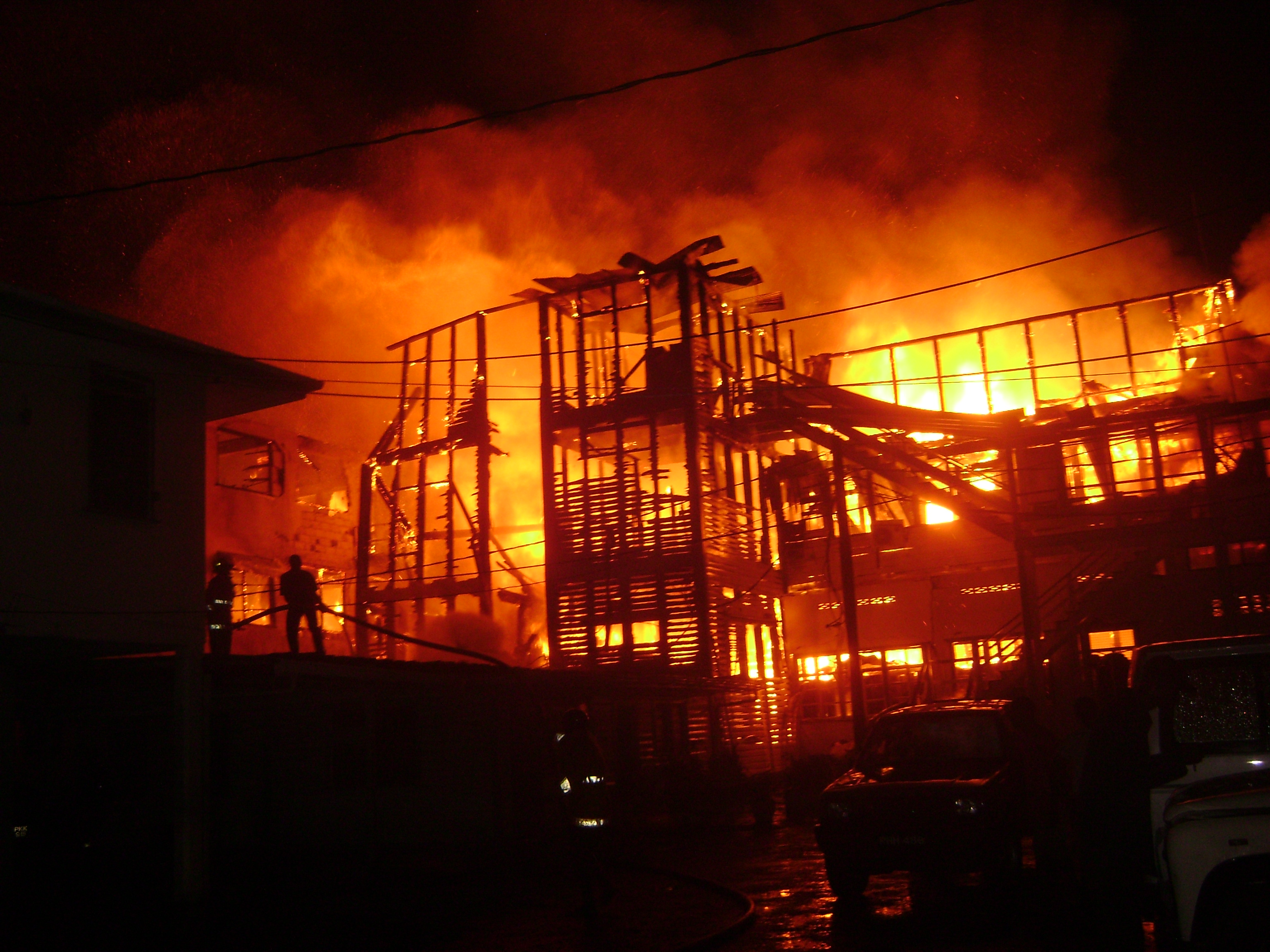 Building On Fire : Breaking news fire completely destroys ministry of health