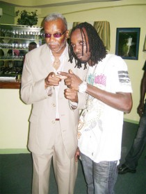 Mavado with Presidential Adviser on Empowerment Odinga Lumumba