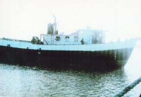 The ill-fated Island Princess which sailed from Parika on September 26 and which has not been seen since. The bodies of three of the four crew members were found last week. They bore gunshot wounds and had been disembowelled. (Photo courtesy of the Guyana Police Force)