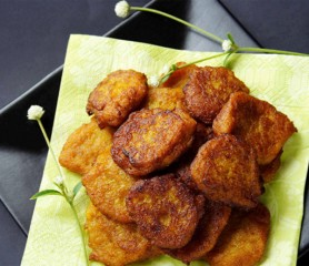 Bajan Pumpkin Fritters - practise needed  (Photo by: Cynthia Nelson)