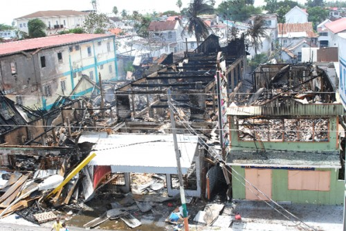 The aftermath of Friday's fire. (Jules Gibson photo)