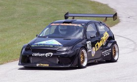 The Beast! The Ford Focus, driven by Barbadian Roger Mayers who says that he is here to do nothing but win on Sunday.