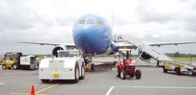 Roraima's ground handling facilities will service new Sky Service Toronto flight. Inset  is Sky Service owner Ram tiwari