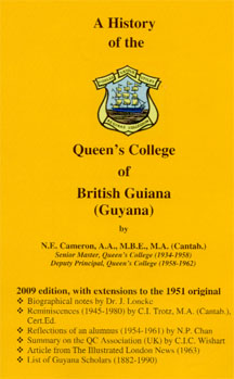Norman Cameron's A History of the  Queen's College of British Guiana