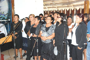 In recognition of her love of music and culture, Minister Fox's family paid tribute in a song in Akawaio.
