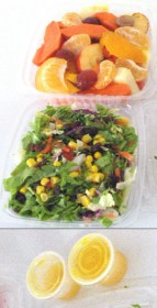 Fruit and vegetable salads manufactured  under the Healthy Choices brand.