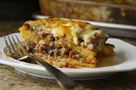 Moussaka made with ripe plantains (Photo by Cynthia Nelson)