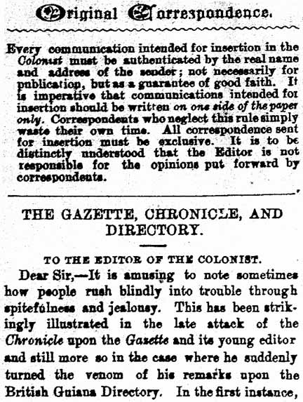 Dear Editor A Brief Social History Of The Guyanese Newspaper