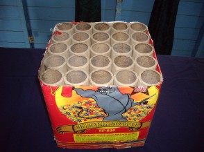 A used box of the explosives (Police photo)