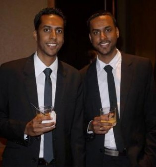 Tameshwar Andy Geer and his twin brother Taijwant Anthony Geer