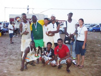Some of the players  after receiving their medals and trophies.