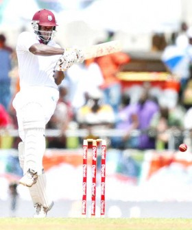 Kirk Edwards steadied West Indies with a century.