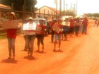 Lethem residents protest