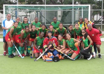 SECOND BEST! The Guyana team which won a silver medal at the Pan American Hockey Federation Championships which ended on Sunday in Brazil.