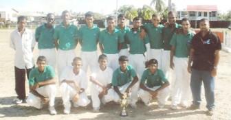 Members of the 2011 BCB/Diamond Fire & General Insurance under- 19 Inter-Zone Champion team